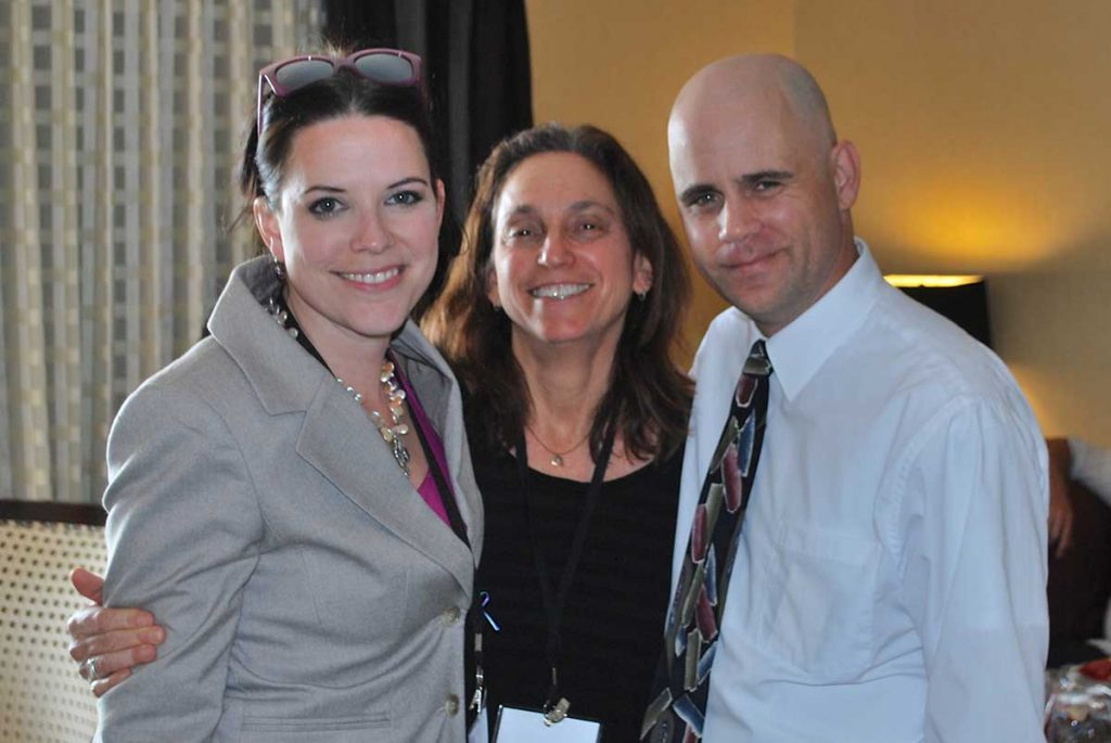 From left to right, Dr. April Foreman, Director Lisa Klein, and Dr. Schmitz at AAS, 2014.