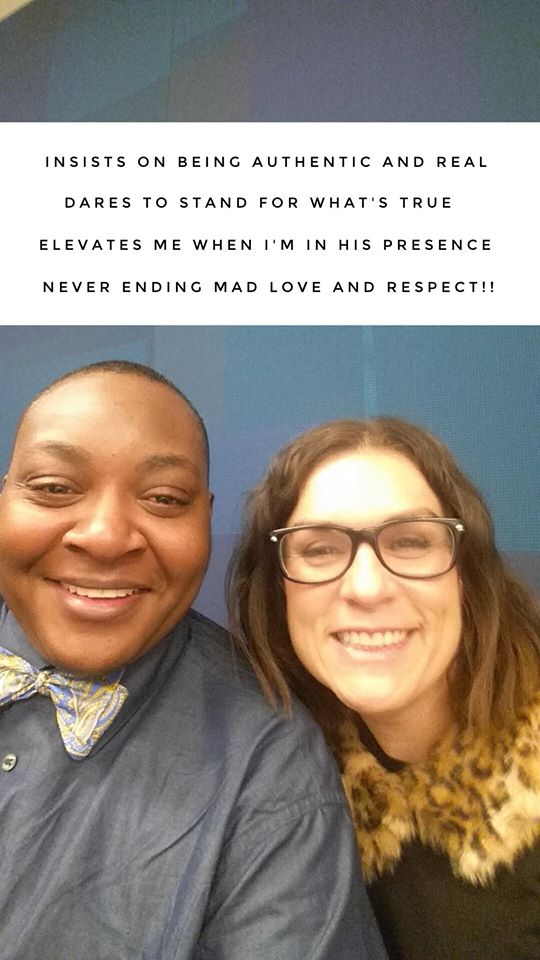 """Author of this piece, Iden Campbell, pictured with friend and fellow advocate/activist Leah Harris (previously featured in the #SWordStories). """"Leah wrote this for me while I was in the hospital. The first alphabet of each line spells out my name."""""""