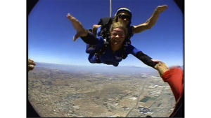 Ann flying
