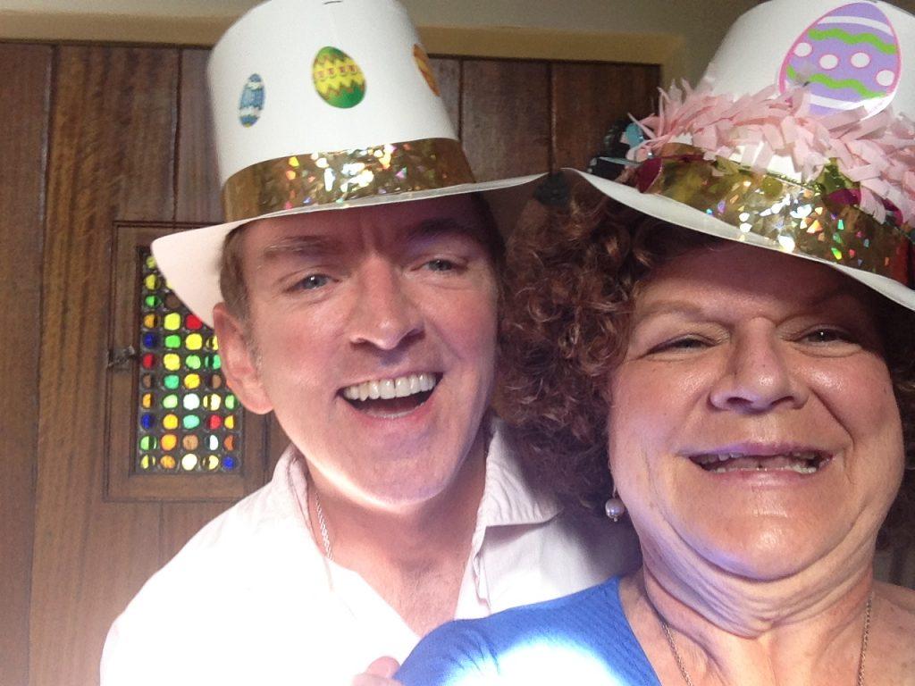 Mary Pat Gleason with dear friend, Michael Patrick King.