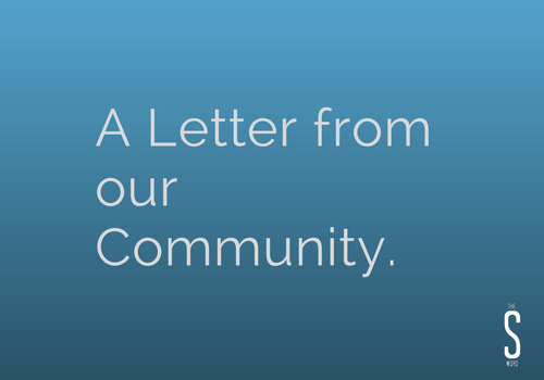 A Letter from our Community